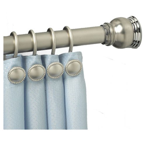 ZPC Zenith Products Finial Tension Shower Curtain Rod