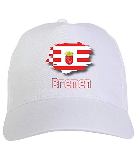 Chapeau blanc Brema Allemagne avec fermeture Velcro 30 cm