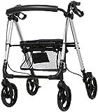 Andador de Ancianos Andador Andador móvil Compacto Plegable, con Bolsa de Asiento y Andador de Transporte con Ruedas, Andador de Ancianos, para discapacitados