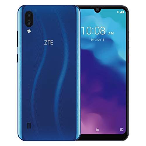 ZTE Blade A5 2020, 4G LTE, International Version (No US Warranty), 32GB, 2GB, Dual SIM, Blue - GSM Unlocked (T-Mobile, AT&T, Metro, Straight Talk)