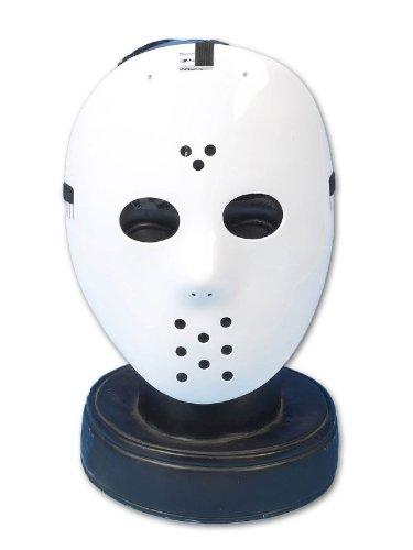 Henbrandt - Masque Hockey Jason Voorhees Plastique Déguisement Accessoire - Blanc