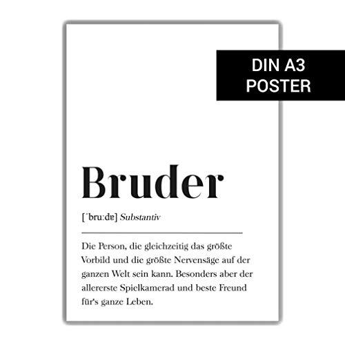 Bruder Definition: DIN A3 Plakat