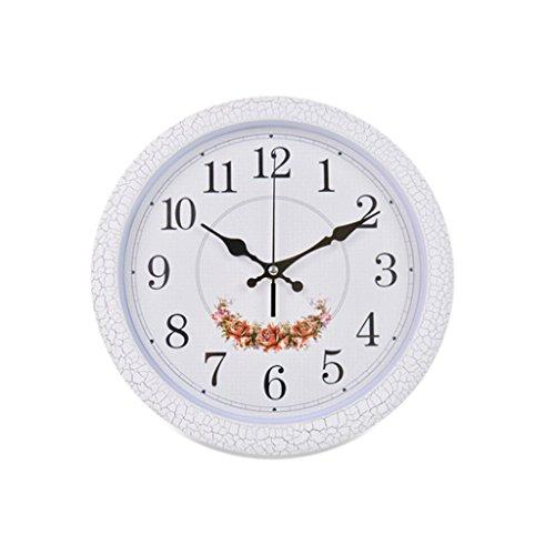DBL 12 Pulgadas Reloj de Pared Simple Creativo Patrón de Flor Europea Reloj Tipo de Pared Redonda Sala de estar Dormitorio Moderno Reloj de Cuarzo de la Casa mudo reloj de pared ( Size : Style one )