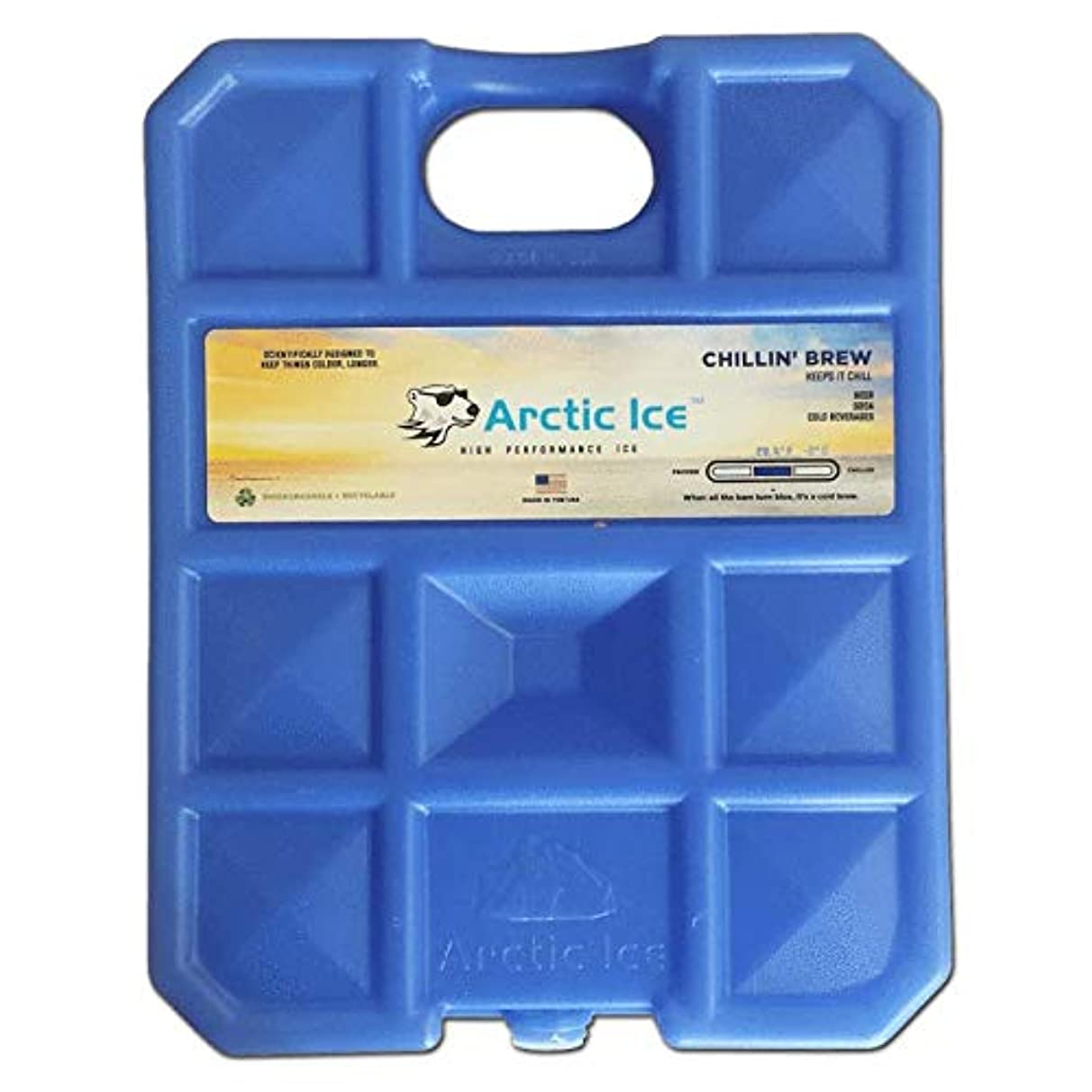 BISON COOLERS Reusable Cold Arctic Ice Packs | Slim & Long Lasting Freezer Pack for Lunch or Beverage Bags and Cooler Ice Chests | 100% American Made | 2.5 (Medium) & 5.0 (Large) Pound