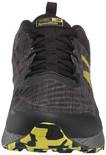 New Balance Men's Nitrel V3 Trail Running Shoe, Black/Yellow, 11 D US 2