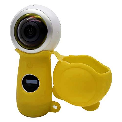 Tasche Hülle Kompatibel mit Samsung Gear 360 2th(2017) Action Camera Protective Abdeckung Gehäuse Stoßfestes Schutzhülle Silikonhülle Kamera Abdeckung Shell (Gelb)