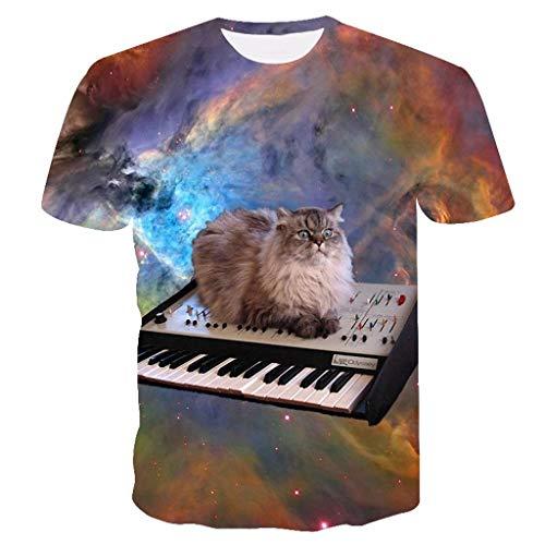 Sylar Camisetas Hombre Verano Camisetas Hombre Originales 3D Digital Unisex Camisetas De Manga Corta Moda Camiseta De Hombre Camisetas Hombre Manga Corta Estampado De Gatos