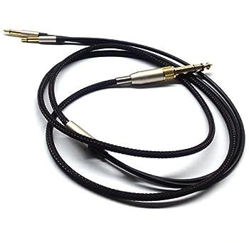 NewFantasia Replacement Audio Upgrade Cable Compatible with Denon AH-D600 AH-D7200 AH-D7100 AH-D9200 AH-D5200 Meze 99 Classics Focal Elear Headphones Black 2meters/6.6ft