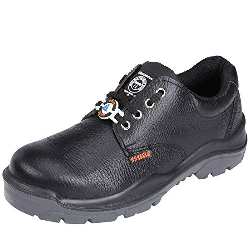 ACME men's Storm Leather Black Safety Shoes - 9