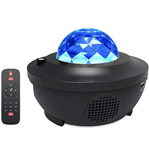 LIANZHIJIE Night Sky Projector Lamp Ocean Wave Star Light, Laser Star Projector with LED Nebula Galaxy for Room Decor, Home Theater Lighting, or Bedroom Night Light Mood Ambiance - Blue Cobalt