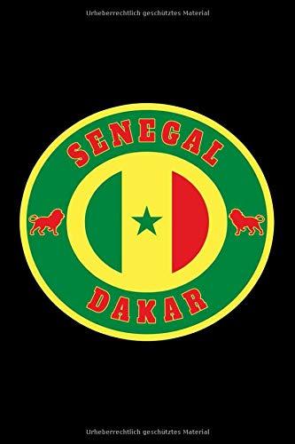 Senegal Flaggen Notizbuch: Schönes Senegal Flaggen Notizbuch mit 120 karierten Seiten im A5 Format