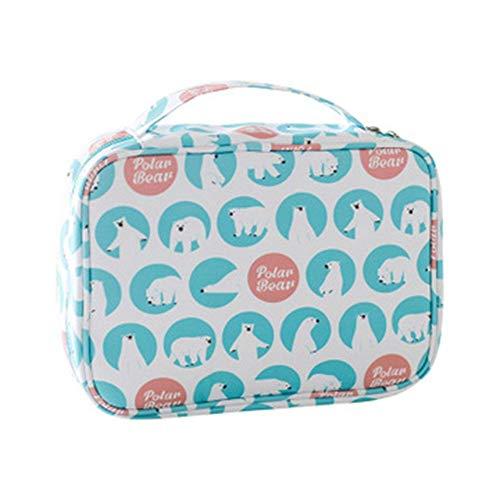 GV Borsa di stoccaggio in cotone portatile stampa Wash Bag borsa da viaggio grande capacità sacchetto cosmetico impermeabile