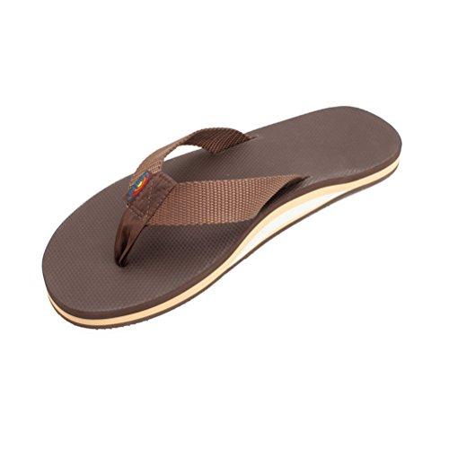 Big Sale Best Cheap Deals Rainbow Sandals Men's Single Layer Arched Classic Rainbow Sandals Brown/Brown Size XX-Large (12-13.5)