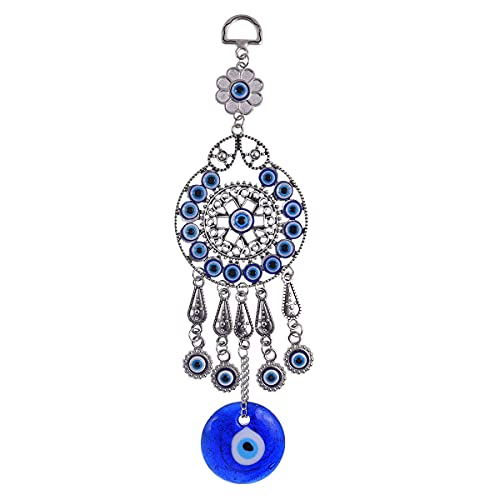 ME9UE Blue Evil Eye Amulet 9 Inch Blue Evil Eye Pendant...