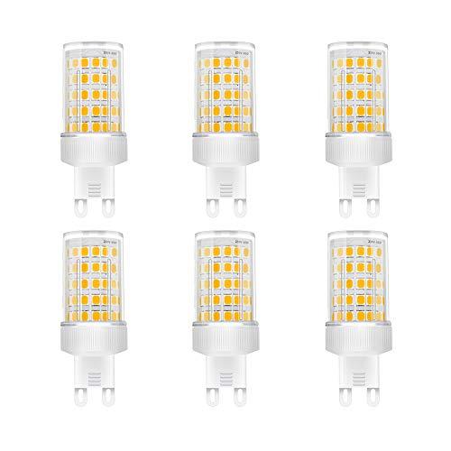 Lampadina LED G9 10W, Equivalenti a 80W, SMD 2835 LED, Lampade a Risparmio Energetico,G9 LED Bianca Calda 3000K,AC 220-240V,800 Lumen, Non Dimmerabile, Pacco da 6