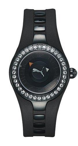 Puma Time - Reloj analógico de Cuarzo para Hombre con Correa de Silicona, Color Plateado