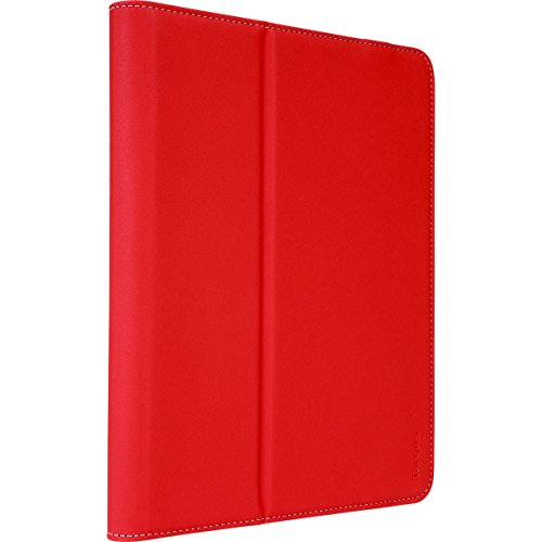 Targus VersaVu Classic Apple iPad Pro (9.7-inch), iPad Air 2, and iPad (6th/5th gen) Protective Tablet Case with Slim TriFold Stand Cover, Enhanced Audio, Stylus Holder, Secure Strap Closure, Red (THZ63403GL)