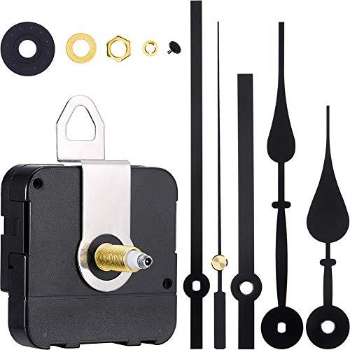 Queta Quarz-Uhrwerk,Quarz Uhrwerk Lange Spindel mit 2 Zeiger-Sets für DIY Wanduhr Reparatursatz (Typ1)