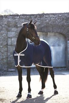 Horseware Ireland Amigo Net Cooler Pferdedecke, Navy with Silver, 2 m