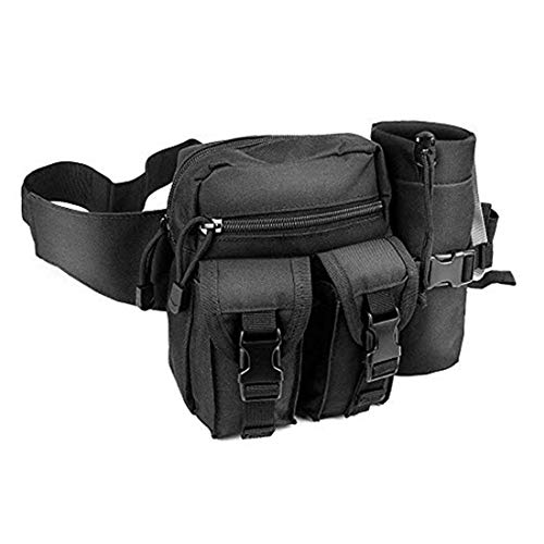 Bolsa táctica para la Cintura, Impermeable, Bolsa para la Cintura Militar, cinturón, Bolsa para Botella de Agua para Hombres, 1