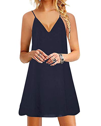 YOINS Damen Kleider Sommer Tshirtkleid für Damen Kleider Knielang Tunika Winterkleid V-Ausschnitt Elegant Brautkleid