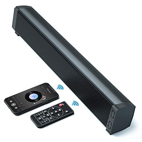 VANZEV Altavoces PC, Bluetooth 5.0 USB Barra de Sonido 20W Sobremesa Portátil con Cable e Inalámbrico con Sonido Estéreo Bass, Tarjeta TF Puerto USB para PC Ordenador Portátil TV Teléfono Móvil
