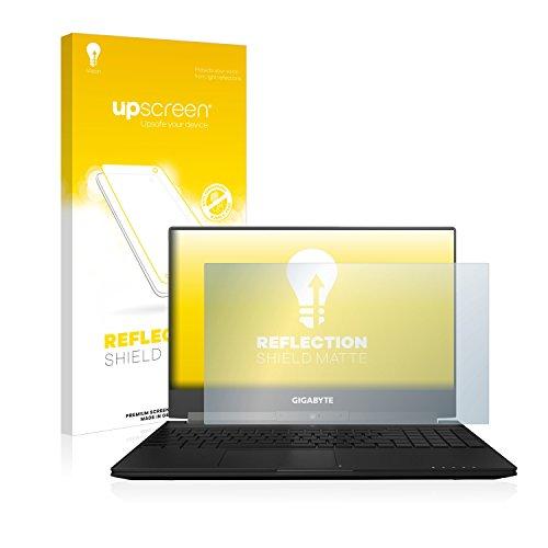 upscreen Entspiegelungs-Schutzfolie kompatibel mit Gigabyte Aero 15X – Anti-Reflex Bildschirmschutz-Folie Matt