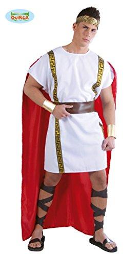 antiker Römer Karneval Motto Party Kostüm für Herren rot weiß Gold Gr. M-XL, Größe:XL