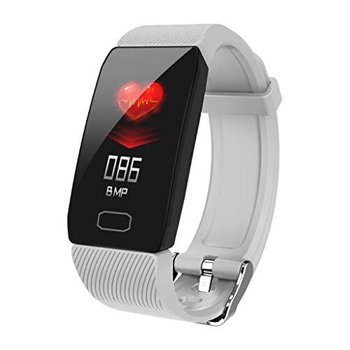 Monitores de actividad Temperatura pulsera inteligente, ritmo cardíaco, la presión arterial TPU rastreador de ejercicios Deportes podómetro del monitor del sueño Hombres Mujeres Relojes impermeables C