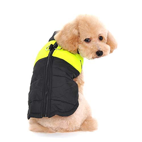 Ectkuee Winter Warm Pet Hund Kleidung klein wasserdichte Hundemantel Jacke Winter Gesteppt Gepolstert Puffer Pet Kleidung…