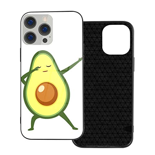 GKAOSPLSR Funda para teléfono compatible con iPhone 12 Series Anti-arañazos marco de vidrio TPU delgado a prueba de golpes funda de protección móvil para iPhone 12 Pro-6.1 2020 - Aguacate Divertido