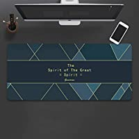 幾何学模様 デスクパッド,防水 PU レザーコ マウスパット,多機能 テーブルマットプロテクター,大型オフィスデスクマット-E 80x30x0.4cm