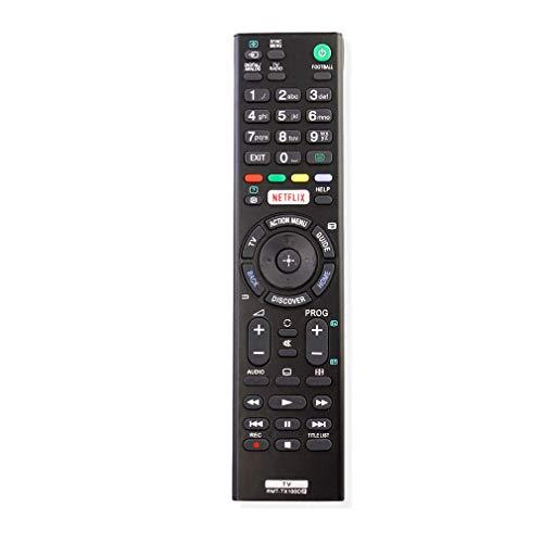 VINABTY RMT-TX100D Ersatzfernbedienung mit Netflix-Tasten Passend für Sony Bravia Smart TV KD-43X8307C KD-43X8308C KD-43X8309C KD-43X8305C KD-49X8005C KD-49X8301C KD-49X8305C KD-49X8307C KD-49X8308C