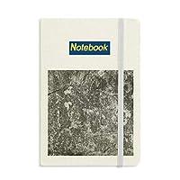 暗い石の壁の表面テクスチャひび割れ ノートブッククラシックジャーナル日記A 5