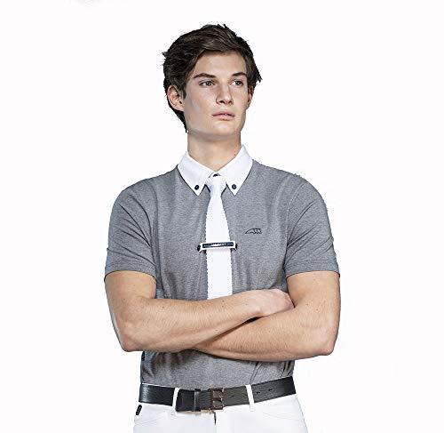 Equiline Herren Turniershirt ALDO Poloshirt, Grey Melange Größe L