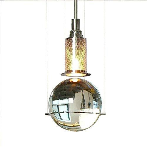 Personalidad Creativa Lámpara Colgante Gota de Agua Candelabro Ajustable 1 luz Suspensión Ligh Pantalla de lámpara de Vidrio Transparente Accesorio de iluminación de Cocina Cepillado para Island Loft