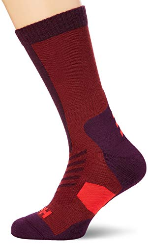 Helly Hansen Unisex Hiking Warm Crew Socken, Wild Rose, 42-44