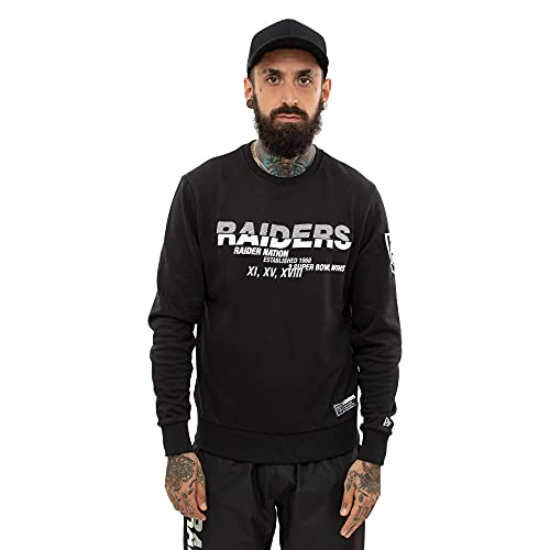 New Era Herren Pullover NFL Oakland Raiders Wordmark Slogan Crew schwarz XL