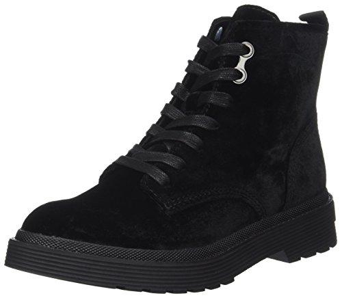 Calvin Klein Damen Annie Velvet Combat Boots, Schwarz (Black), 41 EU