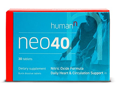 HumanN Neo40 Daily Heart & Blood Circulation Supplements to Boost Nitric Oxide - Supports Blood Pressure - Includes 30 Dissolvable Tablets - Tasty Fruity Flavor