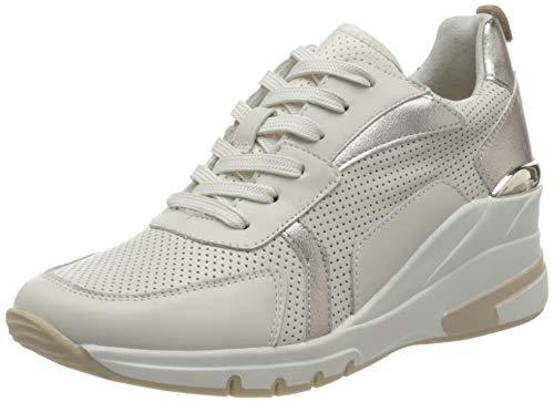 CAPRICE Damen 9-9-23722-26 Sneaker, Creme/Platin C, 39 EU