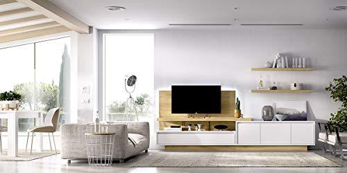 ambiato Wohnwand Duo 34 -inkl. TV Bühne mit Glaswangen, TV-Paneel - Stellmaß: 300x45cm