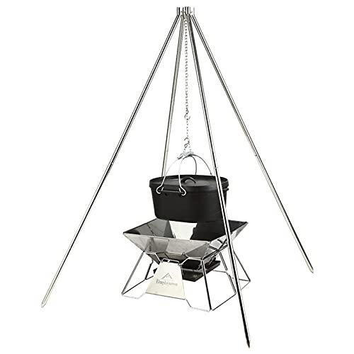 41T0ZYPScXS. SL500  - TRITTHOCKER Camping-Stativ, BBQ-Camping-Quadripod Großer Edelstahl Selbstfahrender Grill Outdoor Grill Grillzubehör
