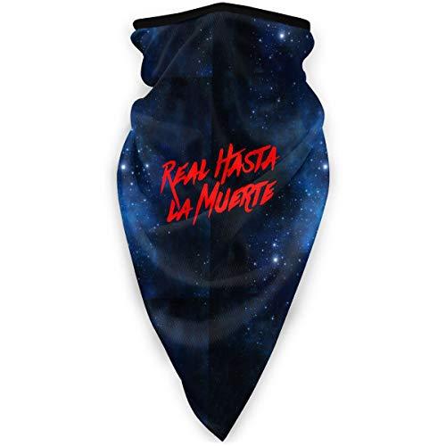 NUBOMINI Real Hasta la Muerte Logo Protector de la cara – Unisex calentador de cuello pasamontañas diadema para actividades al aire libre deportes