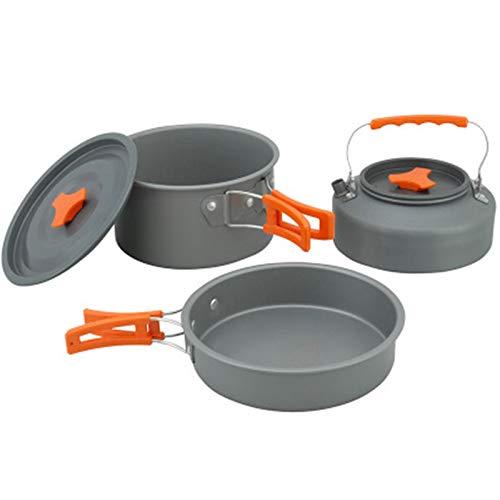 Kit de Utensilios de Cocina para Acampar Camping Utensilios De Cocina Set Cocinar Mess Kit Potes Ligeros para Mochileros Senderismo Picnic Al Aire Libre para Picnic Senderismo
