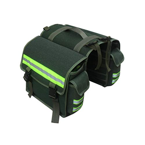 BAACD Bolso Doble de Bicicleta, Utiliza para Fijar al portabicicletas con Funda...
