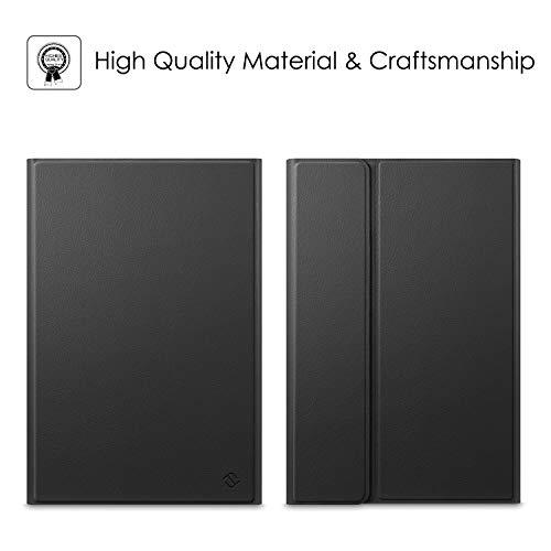 "Fintie Keyboard Case for Samsung Galaxy Tab S6 10.5"" 2019 (Model SM-T860/T865/T867), Slim Cover w/Detachable Wireless Bluetooth Keyboard, 7 Color Backlight, Black"