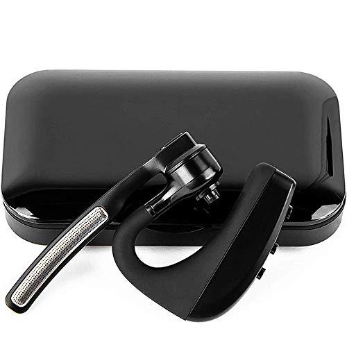 happyset Headset Bluetooth für Handy iPhone 6s 7 Plus X 8 XS XR 11 Samsung Galaxy S7 S8 S9 S10 A70 Huawei P10 P20 P30 zum Telefonieren 2 Handys Geräte mit Mikrofon Business Auto Büro Etui KFZ