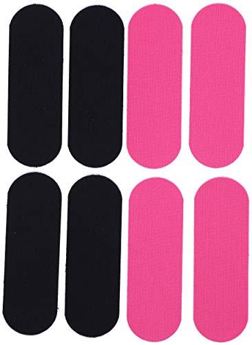 Kinesiotape für den Rücken | Elastisches Tape für uneingeschränkte Bewegungsfreiheit | 8 vorgeschnittene Streifen | Schwarz Pink | 15 x 5cm