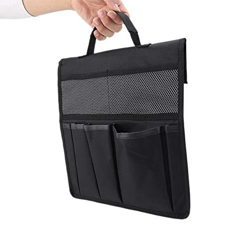 Nikou Garten-Werkzeugtasche für Kneeler mit Griff - Faltbare, tragbare Garten-Knie-Sitzbank-Kniendasche Werkzeug-Aufbewahrungshocker-Etui Schwarz/Grün (Farbe : Black)